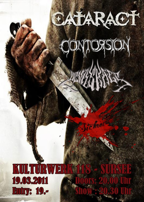 Death Series: Kulturwerk 118, Sursee (DEVILS RAGE mit  SICKRET, CONTORSION, CATARACT)