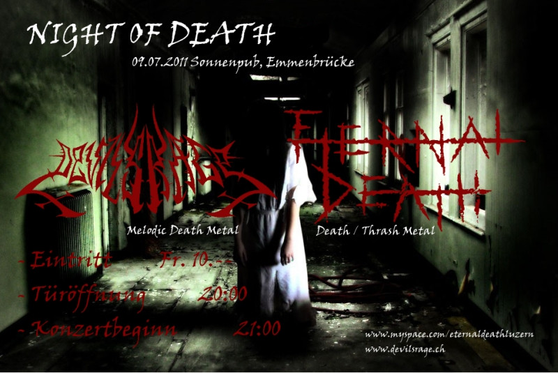 Night Of Death: Sun Pub, Emmenbrücke (DEVILS RAGE mit ETERNAL DEATH)